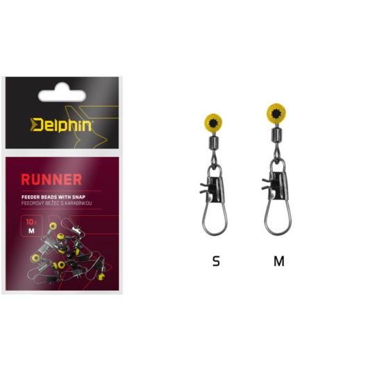 Delphin RUNNER  Feeder műanyag betétes forgó kapocs 10db/cs