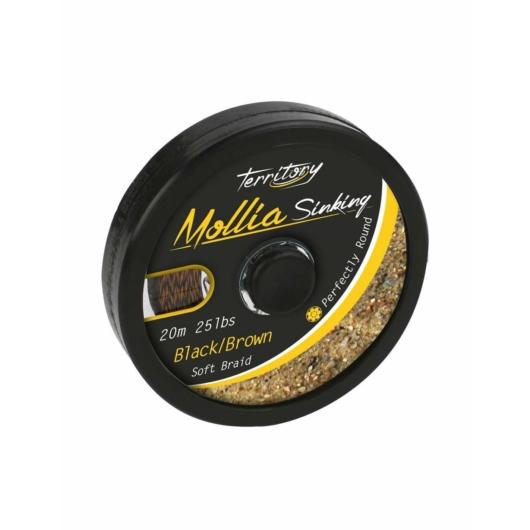 Mikado Mollia Hooklink Black/Brown 20m 25lbs előkezsinór