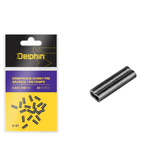 Delphin Krimpelő cső /20db 1,2x2,6x8mm